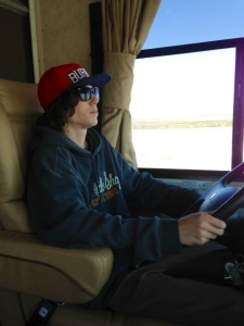 Dylan driving today...